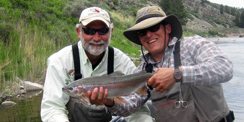 Large Missouri River rainbow trout caught with a Montana fly fishing guide.
