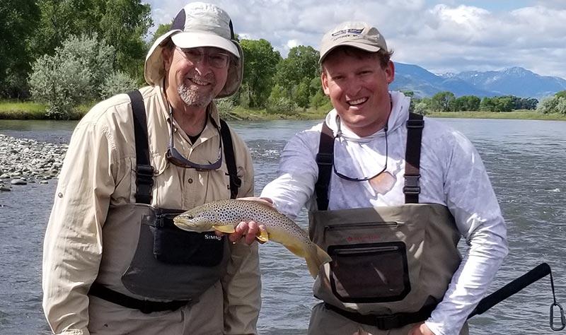 late spring runoff break brown trout