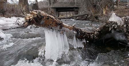 winter brings ice to area rivers