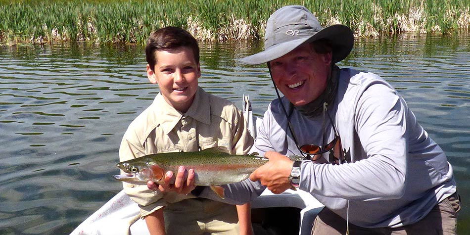 beginners can catch large fish on private lake trips