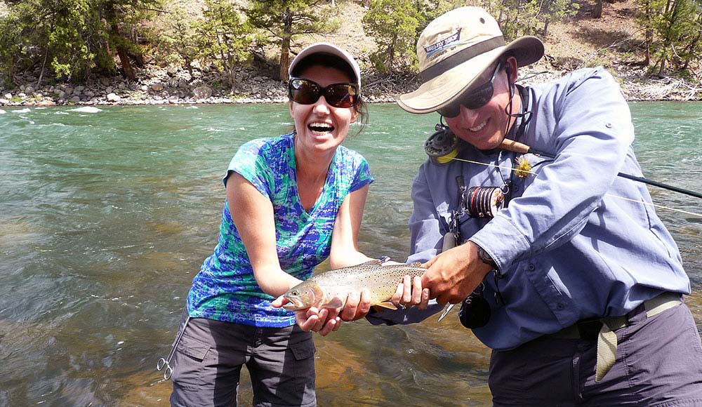 beginner and Yellowstone River cutthroat