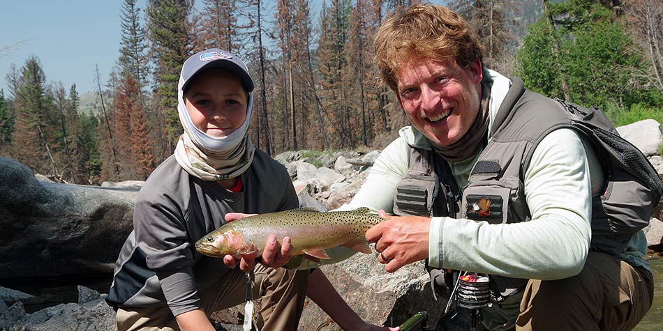 Yellowstone beginner fly fishing trips can sometimes produce large trout like this one.