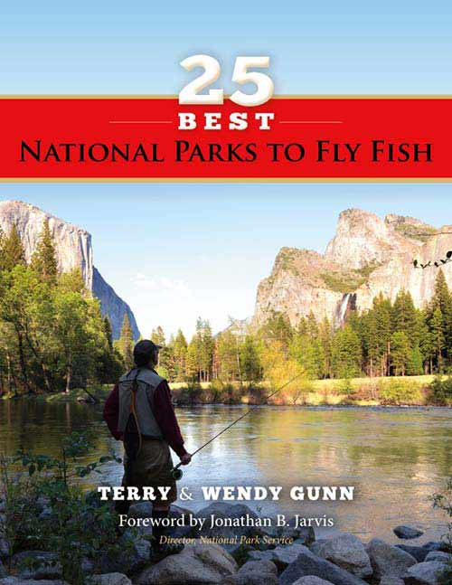 cover of 25 best national parks to fly fish book