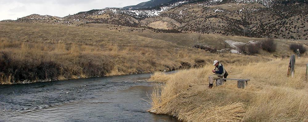 angler on depuy spring creek