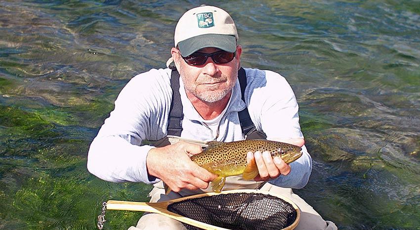 captain kadko and a depuy spring creek brown