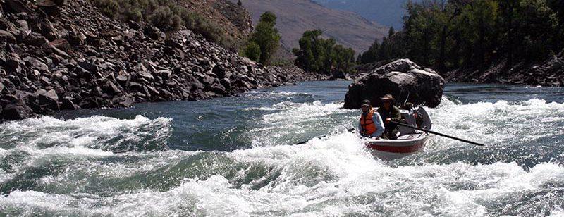 drift boat and yellowstone river fishing guide in Yankee Jim Canyon