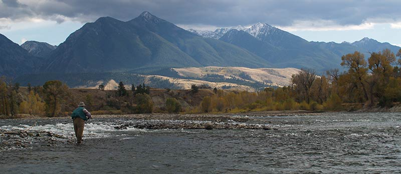 scenic photo of Paradise Valley and Yellowstone River fishing guide