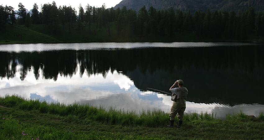 anger lake reflection