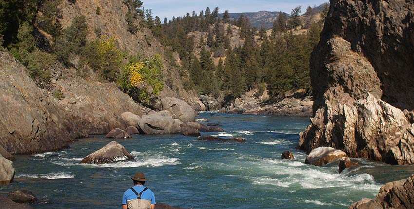 black canyon of the yellowstone river