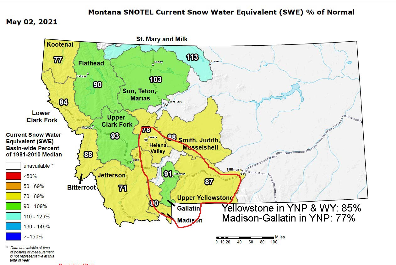 may 02 2021 snowpack in montana